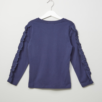 Bossini Ruffle Detail Long Sleeves Top