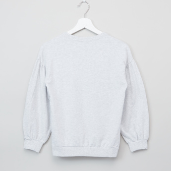 Bossini Embroidered Long Sleeves Sweat Top with Sequin Detail