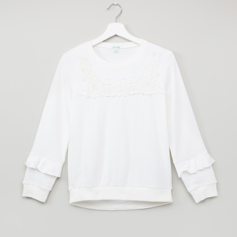 Bossini Long Sleeves Lace Detail Sweatshirt