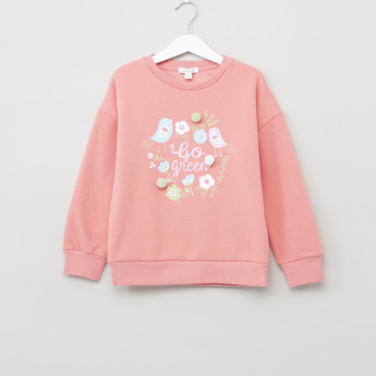 Bossini Printed Round Neck Sweat Top