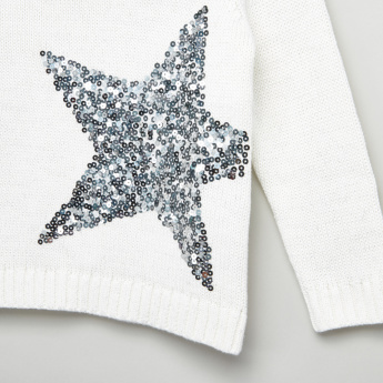 Bossini Sequin Detail Star Pullover