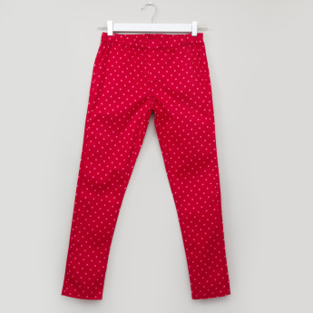 Bossini Printed Jeggings with Elasticised Waistband and Pocket Detail
