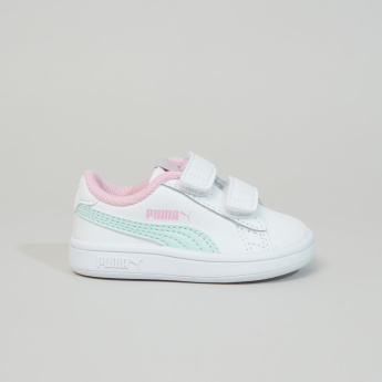 PUMA Smash Trainers with Hook and Loop Closure