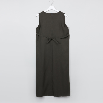 Pocket Detail Sleeveless Pinafore Dress