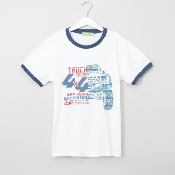 Bossini Truck Tours Printed Short Sleeves T-Shirt