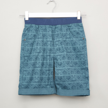 Bossini Printed Shorts with Ribbed Waistband
