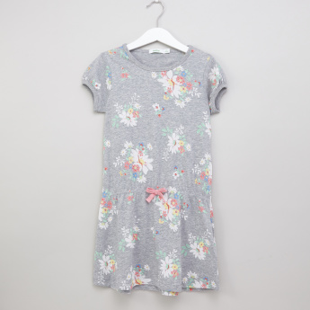 Bossini Floral Printed Short Sleeves Dress