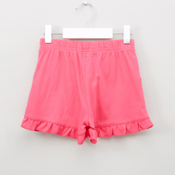 Bossini Ruffled Hem Shorts with Elasticised Waistband