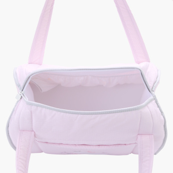 Juniors Embroidered Diaper Bag with Zip Closure