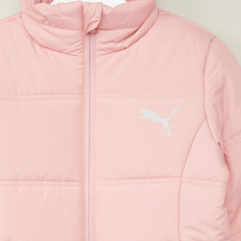 PUMA Textured Jacket with Long Sleeves and Pocket Detail