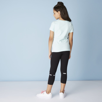 PUMA Classics Logo Printed T-shirt with Short Sleeves and Round Neck