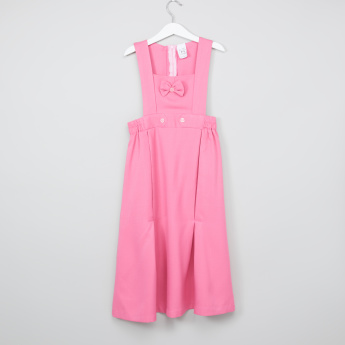 Bow Detail Pinafore Dress