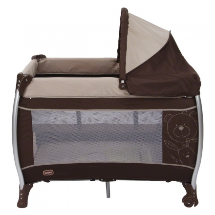Juniors Spencer Travel Cot with Teddy Print