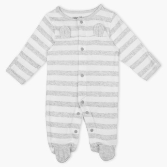Juniors Stripped Closed Feet Sleepsuit