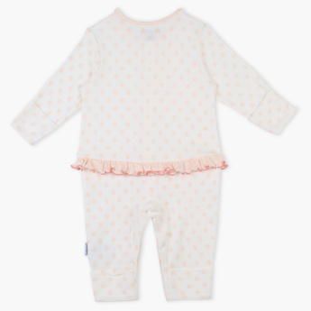 Juniors Printed Sleepsuit with Frill Detail