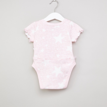 Juniors Printed Short Sleeves Bodysuit