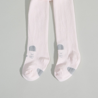 Juniors Printed Tights with Closed Feet
