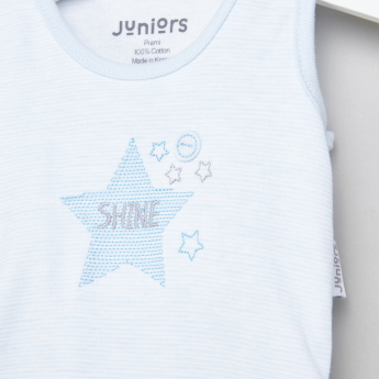 Juniors Embroidered Sleeveless Bodysuit