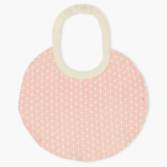 Juniors Printed Round Bib with Snap Button Closure