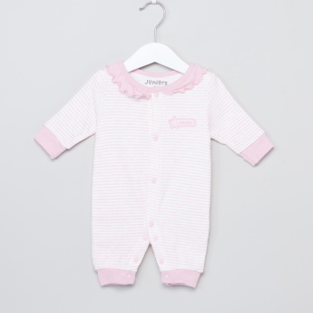 Juniors Striped Frill Detail Sleepsuit