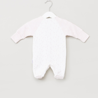 Juniors Printed Closed Feet Sleepsuit with Button Closure