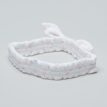 Juniors Printed Headband with Knot Detail