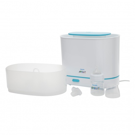 Philips Avent 3 in 1 Electric Sterilizer + Free Natural Feeding bottles - 125 ml, 260 ml and 330 ml