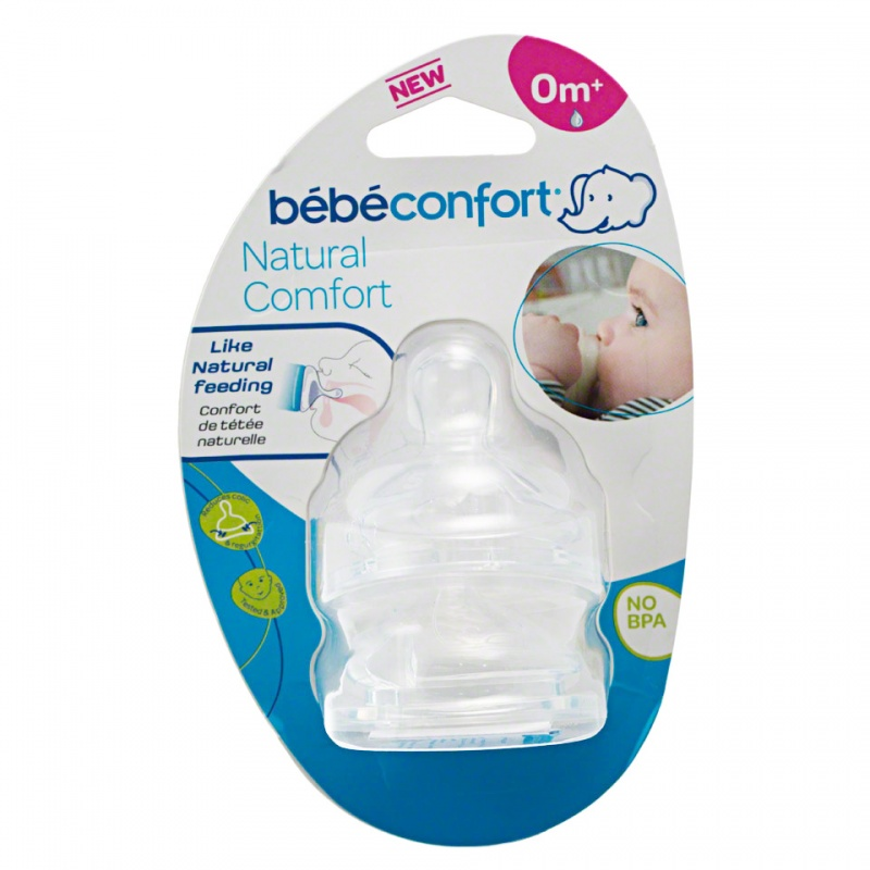 Bebeconfort Slow Natural Comfort Silicone Teats - Set of 2