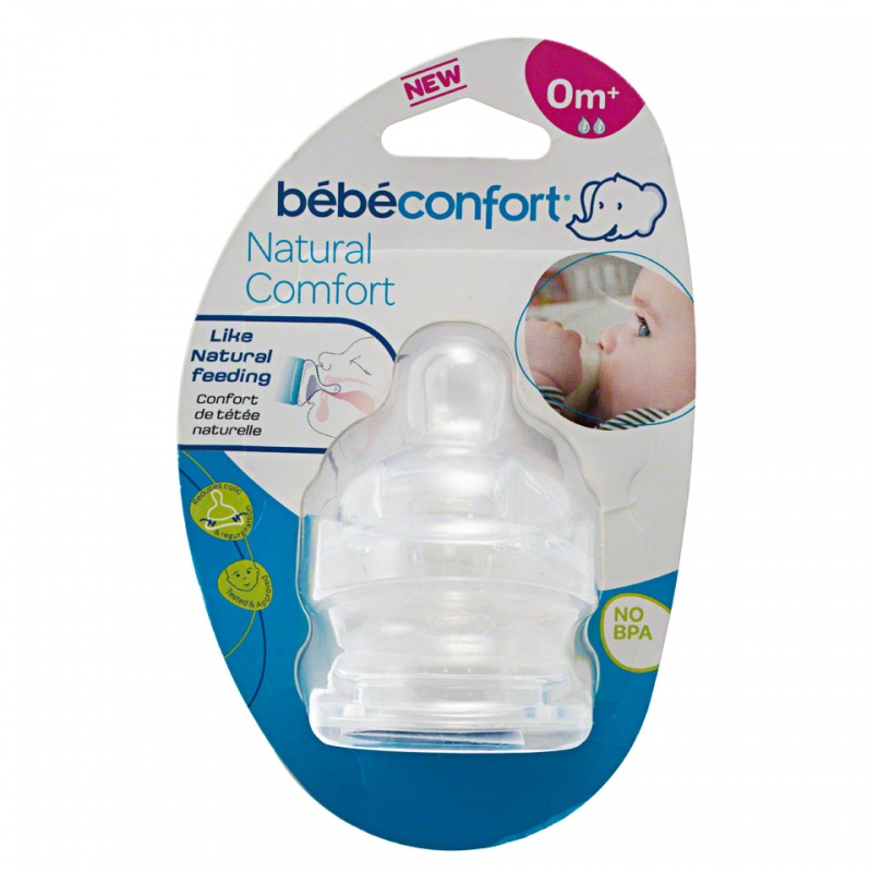 Bebeconfort Medium Natural Comfort Silicone Teats - Set of 2
