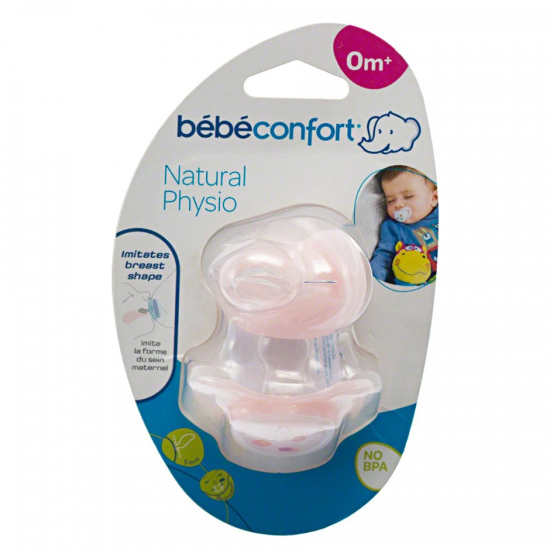 Bebeconfort Natural Physio Silicone Soother - Set of 2