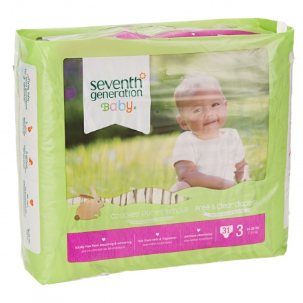 Seventh Generation Free & Clear Baby Stage 3 Diapers - Set of 31