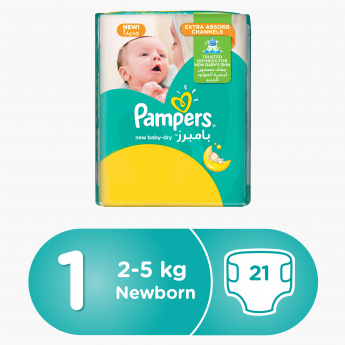 Pampers New Baby-Dry Newborn 21-Piece Diaper Carry Pack
