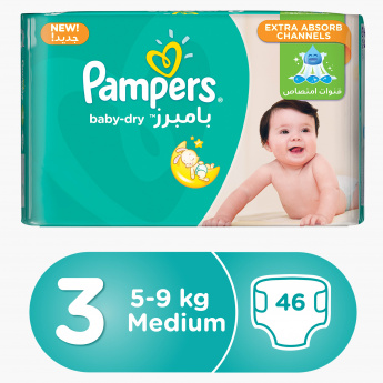 Pampers Baby-Dry Midi 46-Piece Diaper Value Pack