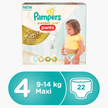 Pampers Premium Care Maxi 22-Piece Diaper Pants Carry Box
