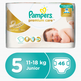 Pampers Premium Care Junior 46-Piece Diaper Pack