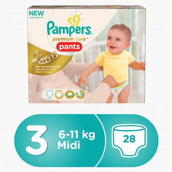 Pampers Premium Care Pants Diapers Midi 2x28 (56-Piece Double Carry Box)