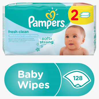Pampers Fresh Clean 128-Piece Baby Wipes