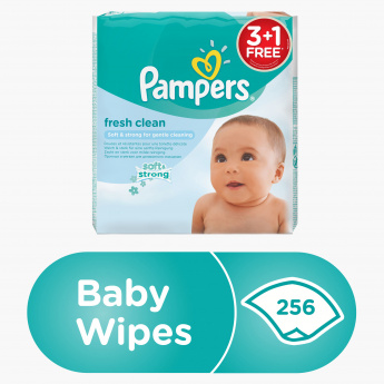 Pampers Fresh Clean 256-Piece Baby Wipes