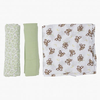 Summer Infants Printed Baby Wrap - Pack of 3