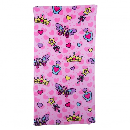 Little 1's Crown & Hearts Towel