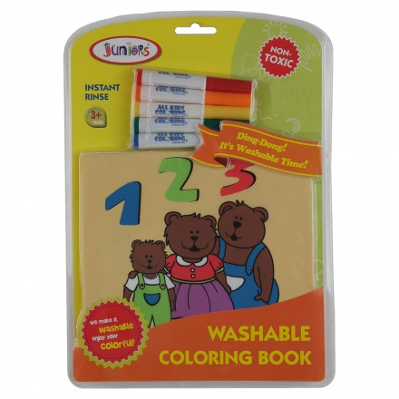 Juniors Bears Washable Colouring Book