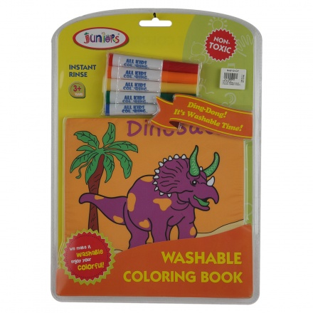 Juniors Dinosaur Washable Colouring Book