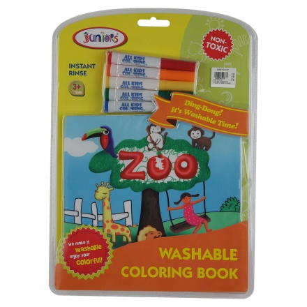 Juniors Zoo Washable Colouring Book