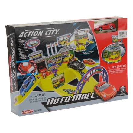 Action City Auto Mall Car and Launcher Playset