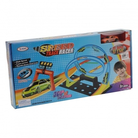 Juniors Road Racer Track Set - 17 Pieces