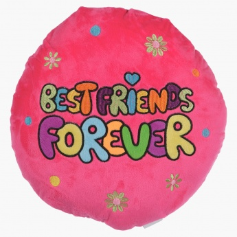 Juniors Embroidered Round Cushion