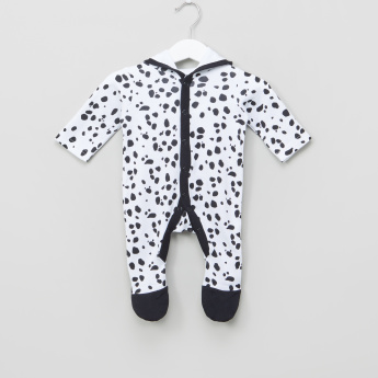 Juniors Printed Closed Feet Hooded Sleepsuit