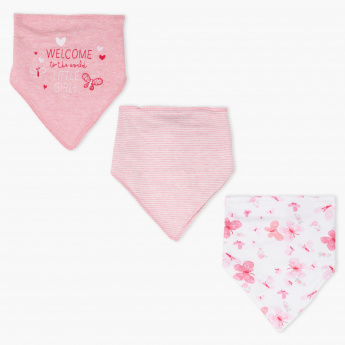 Embroidered Dribble Bibs - Set of 3
