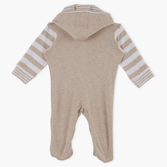 Juniors Striped Sleepsuit with Hood