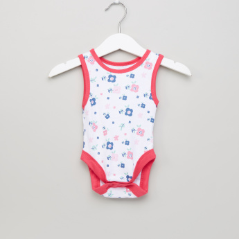 Juniors Printed Sleeveless Bodysuit - Set of 5